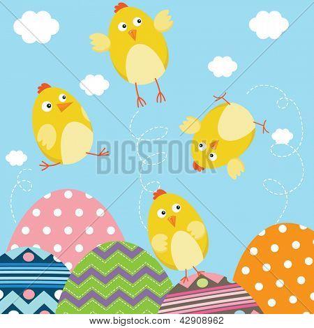 Happy Easter Newborn Baby Chicks