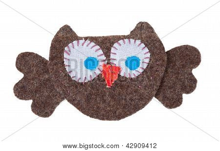 Owl From Pieces Of Fabric