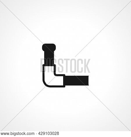 Pipe Icon. Water Pipe Isolated Black Vector Icon.