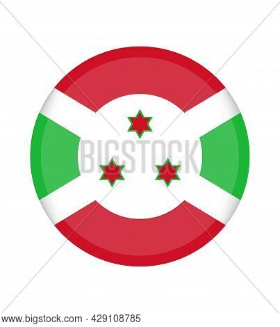 National Burundi Flag, Official Colors And Proportion Correctly. National Burundi Flag. Vector Illus