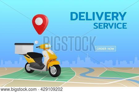 Online Logistic Delivery Service, The Delivery By Scooter Bike, Fast, Safety And Provide Convenience