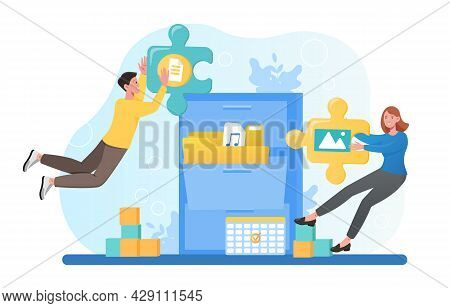 File Classification, Searching Files In Database, Record Management, Document Tracking System. Flat