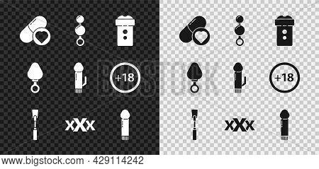Set Pills For Potency, Aphrodisiac, Anal Beads, Vagina Masturbator, Leather Whip, Sex Shop, Dildo Vi
