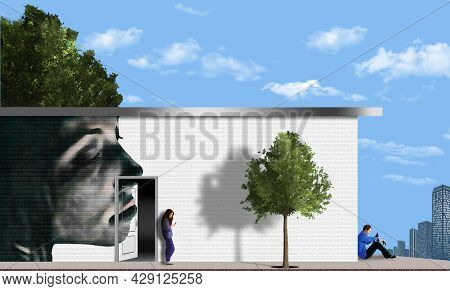 Urban Mural Art Is Seen In This 3-d Illustration.