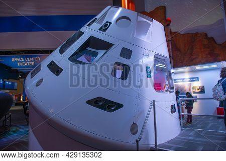 Houston, Tx, Usa - Dec. 15, 2018: Orion Multi Purpose Crew Vehicle Spacecraft Displayed In Johnson S