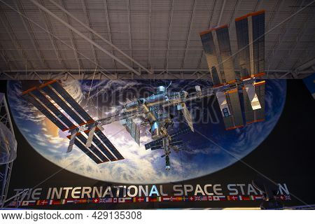 Houston, Tx, Usa - Dec. 15, 2018: International Space Station (iss) Model Displayed In Johnson Space