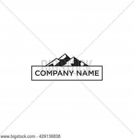 Mountain Vector Logo Design Template. Mountain Logo. Mountain Symbol.mountain Illustration