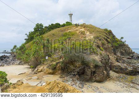 Ko Lanta, Thailand - April 16,2019 : Lighthouse In Mu Ko Lanta National Park, Ko Lanta, Krabi, Thail