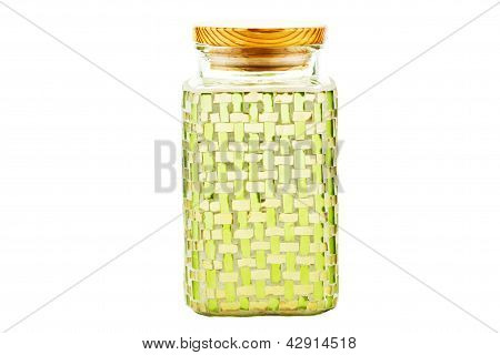 Green Glass Container