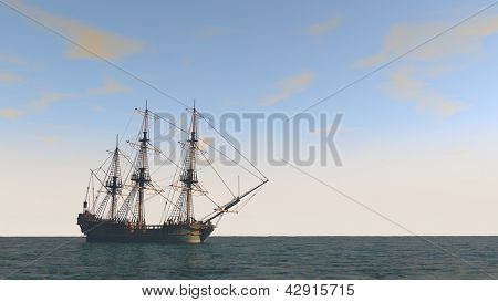 ship in the ocean with no sales