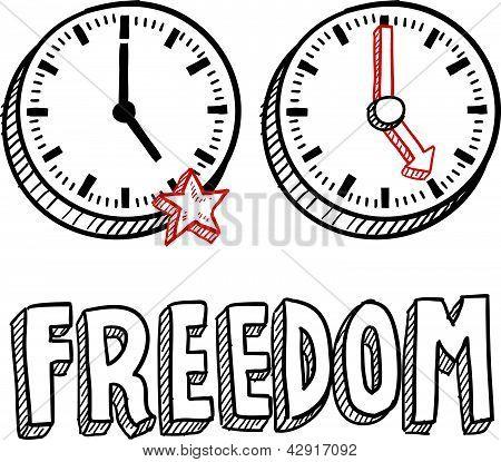 Freiheit am 17-Skizze