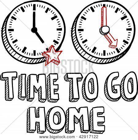 Skizzieren Sie die Zeit zu Hause 17 gehen