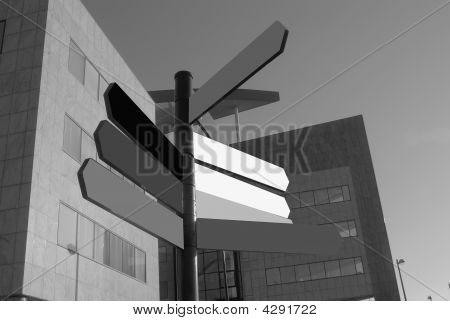 Office Buildings With Sign