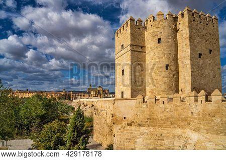Cordoba, Spain - October 31, 2019: Calahorra Tower, Torre De La Calahorra In Cordoba, Spain. A Forti