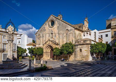 Jerez De La Frontera, Spain - Nov 15, 2019: Historical Square Plaza De La Asuncion In Jerez De La Fr