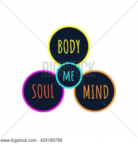Mind, Body And Soul Icon. Life Balance, Harmony Symbol