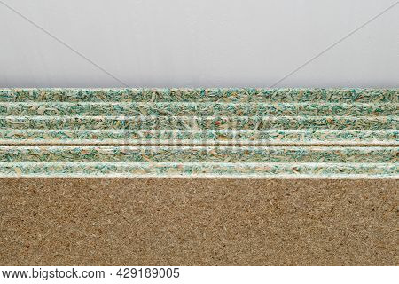 Several Sheets Of Tongue-and-groove Moisture Resistant Chipboard