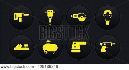 Set Wood Plane Tool, Angle Grinder, Air Compressor, Electric Sander, Construction Jackhammer, Cordle
