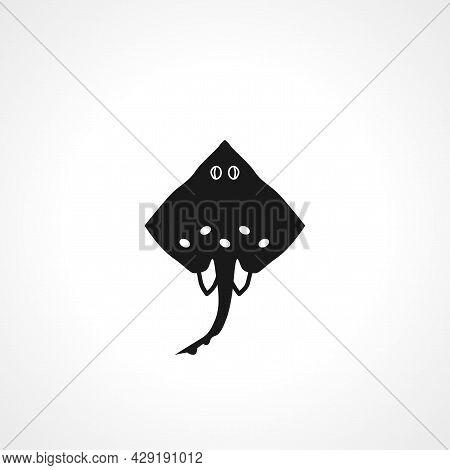 Cramp Fish Sea Simple Isolated Black Vector Icon.
