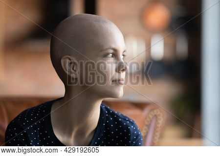Optimistic Young Oncology Patient Looking Away With Hope