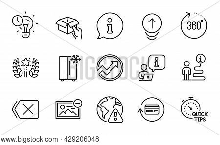 Technology Icons Set. Included Icon As Quick Tips, Time Management, Ranking Signs. Hold Box, 360 Deg