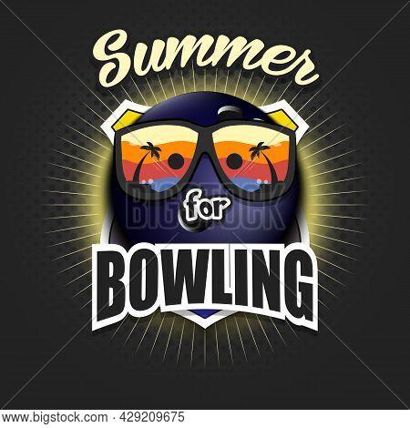 Summer Bowling Logo. Summer For Bowling