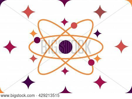 Molecular Background That Surrounds The Atomic Nucleus, With A Mix Of Dark And Light Colors