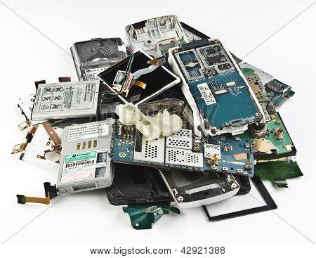 Broken phones, dumped a bunch .