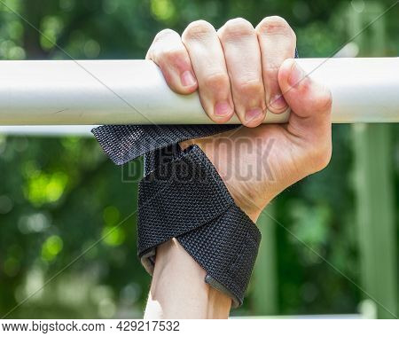Traction Straps, Fixing A Stable Position Of The Arm For Sportsos With Sports Equipment, An Arm With