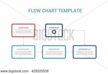 Flow Chart Infographic Template With Nodes And Arrows, Process Diagram, Organization Structure Templ