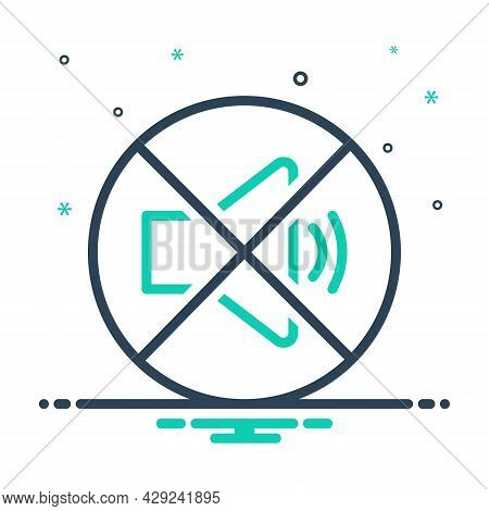Mix Icon For Quiet Silent Calm Tranquil Sober No-sound Caution Loudspeaker Prohibited