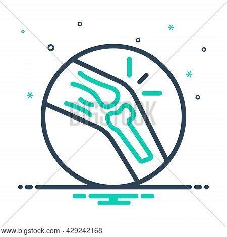Mix Icon For Knee Suffocation Knee Patella Popliteal Human Joint Osteoporosis Bone Medical Injury Li