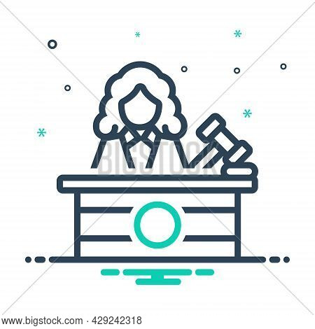 Mix Icon For Judge Justice Magistrate Magistracy Syllogism Rectitude Court Judiciary Legal