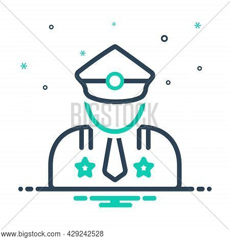 Mix Icon For Major Man Gentleman Portrait Officer Avatar Person Leading Superior