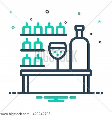 Mix Icon For Bar Tavern Pub Counter Public-drinking-house Bout Restaurant Drink Table Glass Wine