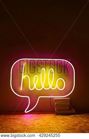 Pink And Yellow Neon Sign Chill. Trendy Style. Neon Sign. Custom Neon. Home Decor.