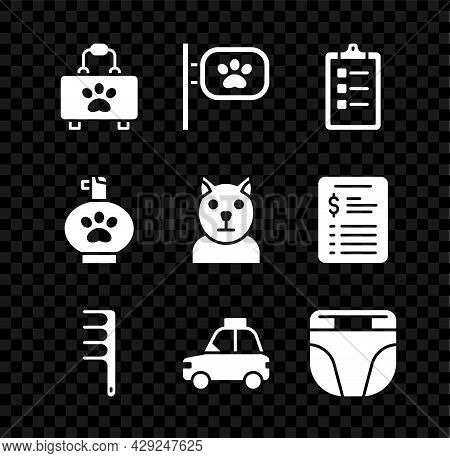 Set Pet First Aid Kit, Grooming, Grooming Salon Price List, Hair Brush For Dog And Cat, Car Taxi, Di