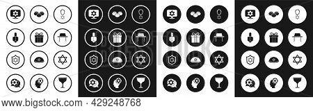 Set Star Of David Necklace On Chain, Gift Box, Hanukkah Dreidel, Orthodox Jewish Hat, Jewish Sweet B