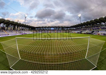 Budapest, Hungary - August 05, 2021:uefa Europa Conference League, Ute Szusza Ferenc Stadium Before