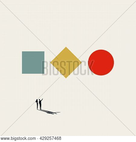 Business Transformation Vector Concept. Symbol Of Change, Opportunity, Growth. Minimal Illustration.