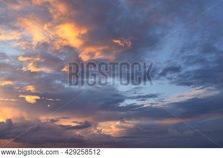 Sunset In The Evening After Rain. Summer Evening