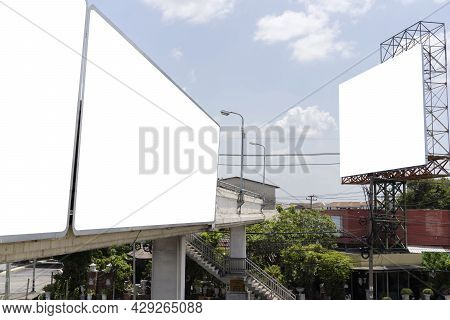 Billboard Blank For Outdoor Advertising Poster Or Blank Billboard For Advertisement