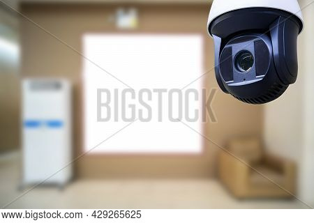 Closed Circuit Camera Multi-angle Cctv System With A Sofa And Air Bubbles On The Sides.