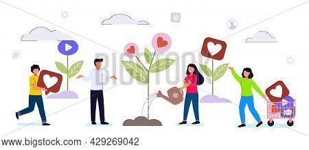 Like Time Concept Of Referral Marketing Refer A Friend Loyalty Program Promotion Method People Likin