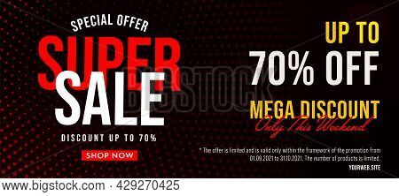 Sale Marketing Offer Advertising Label Banner Template. Retail Purchase With Best Price And Clearanc