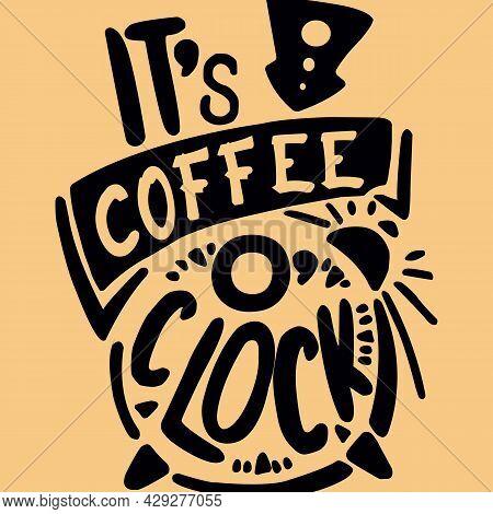 It's Coffee O'clock Social Media Post Web Banner Template Design