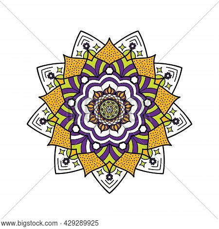 A Mandala For Your Soul. Yellow And Violet.