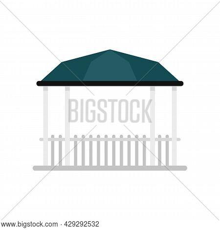 Pavilion Gazebo Icon. Flat Illustration Of Pavilion Gazebo Vector Icon Isolated On White Background