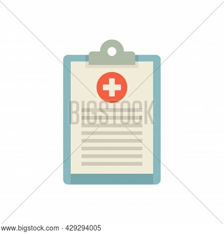 Gynecologist Patient Board Icon. Flat Illustration Of Gynecologist Patient Board Vector Icon Isolate