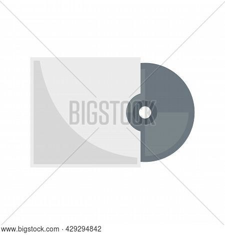 Storage Cd Disk Icon. Flat Illustration Of Storage Cd Disk Vector Icon Isolated On White Background